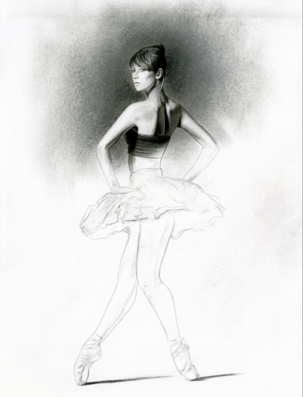 Study For Dance Pose - Graphite On Paper - 12 x 8 inches - £2,400