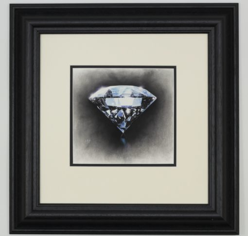 Darren Baker Original Pastel On Paper Blue Diamond