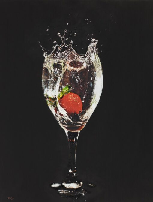 Strawberry Splash - Darren Baker Oil Painting