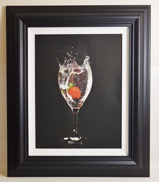 Strawberry Splash - Darren Baker Oil Painting (1)